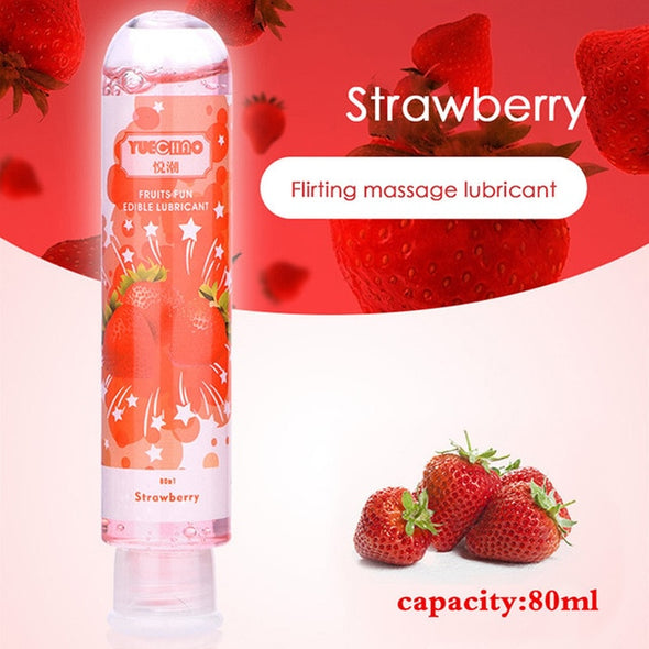 80ml Fruit Flavor Water Soluble Silky Lubricating Gel - yuechaotoys
