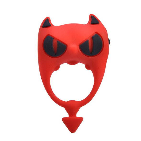 Little Devil Mini Sleeve Long Lasting Vibrators Ring - yuechaotoys