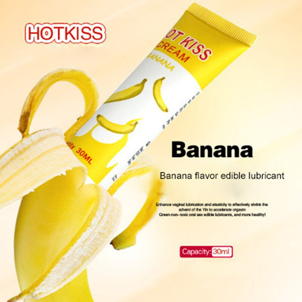Personal Banana Cherry Fruit Flavoured Vagina Lubricants - yuechaotoys
