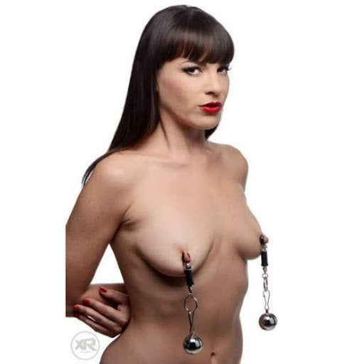 1Pair Metal Sexy Breast Nipple Clamps(Random Color) - yuechaotoys