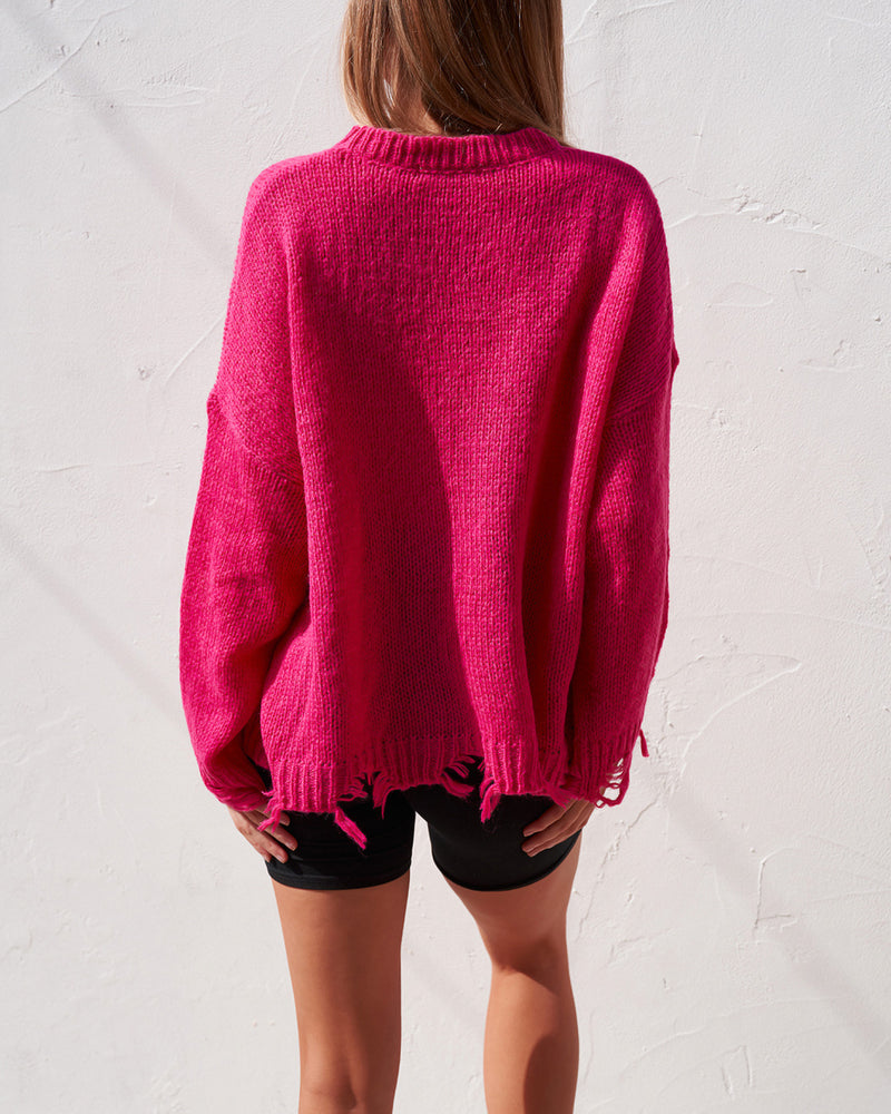 Distressed Knit