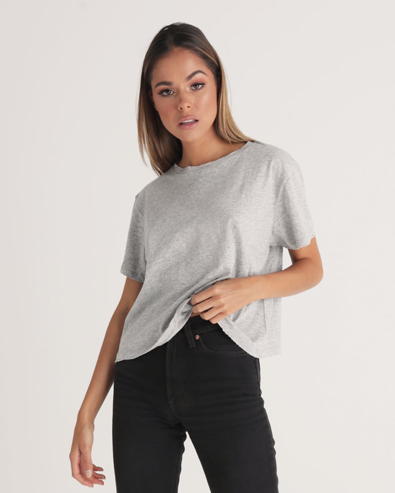 High Neck Tee - Grey