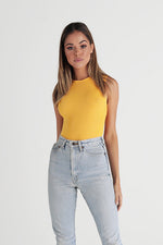 Sleeveless Crew Neck Bodysuit - Sunrise
