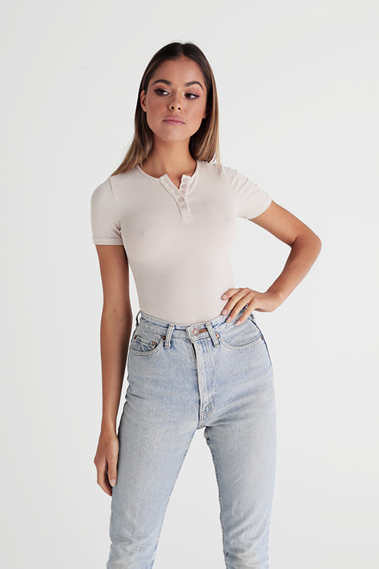 Tee Shirt Bodysuit - Milk