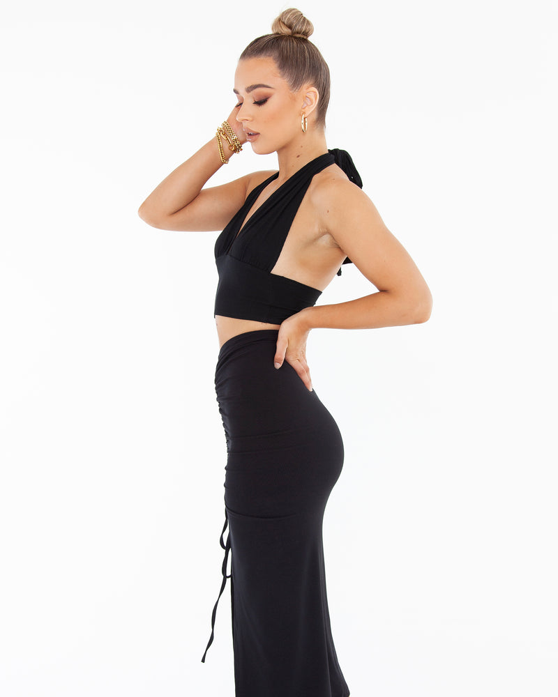 Multi Way Crop - Black