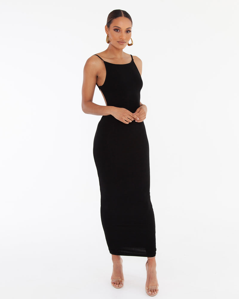 LIYA MAXI DRESS - BLACK