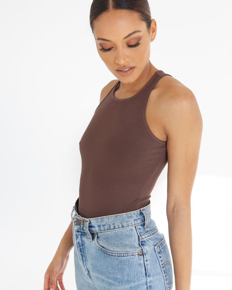 Tank Bodysuit - Brown