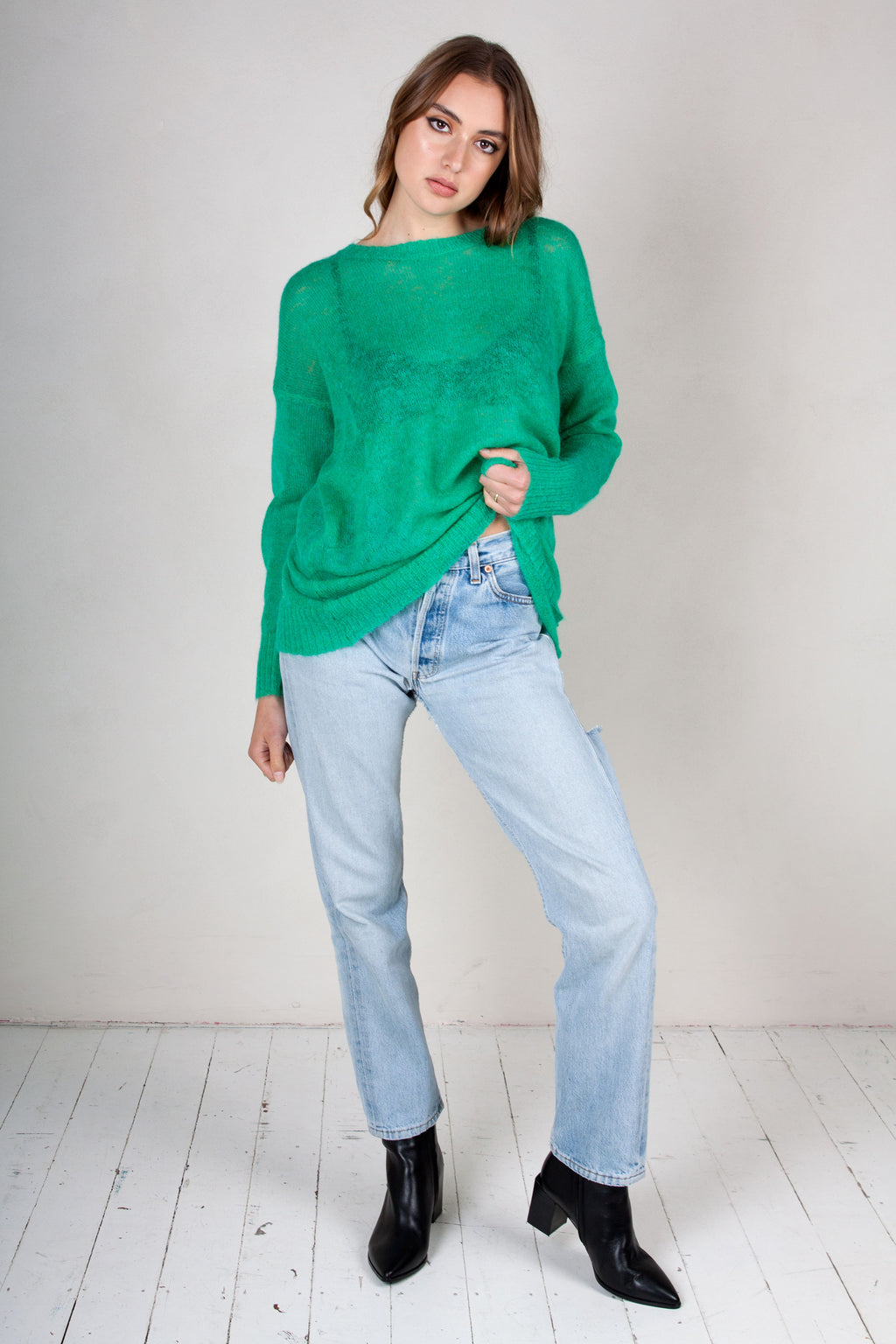 Oversized Green Knit
