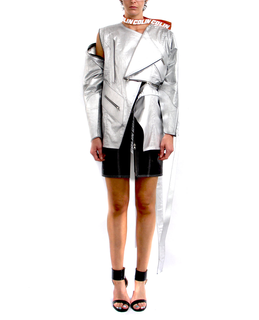 Collapsed Distressed Silver Jacket