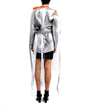 Load image into Gallery viewer, Collapsed Distressed Silver Jacket