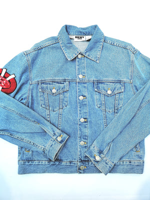 DKNY  LOGO PATCH DENIM JACKET