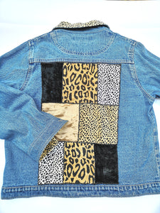 ANIMAL PATCHWORK DENIM JACKET