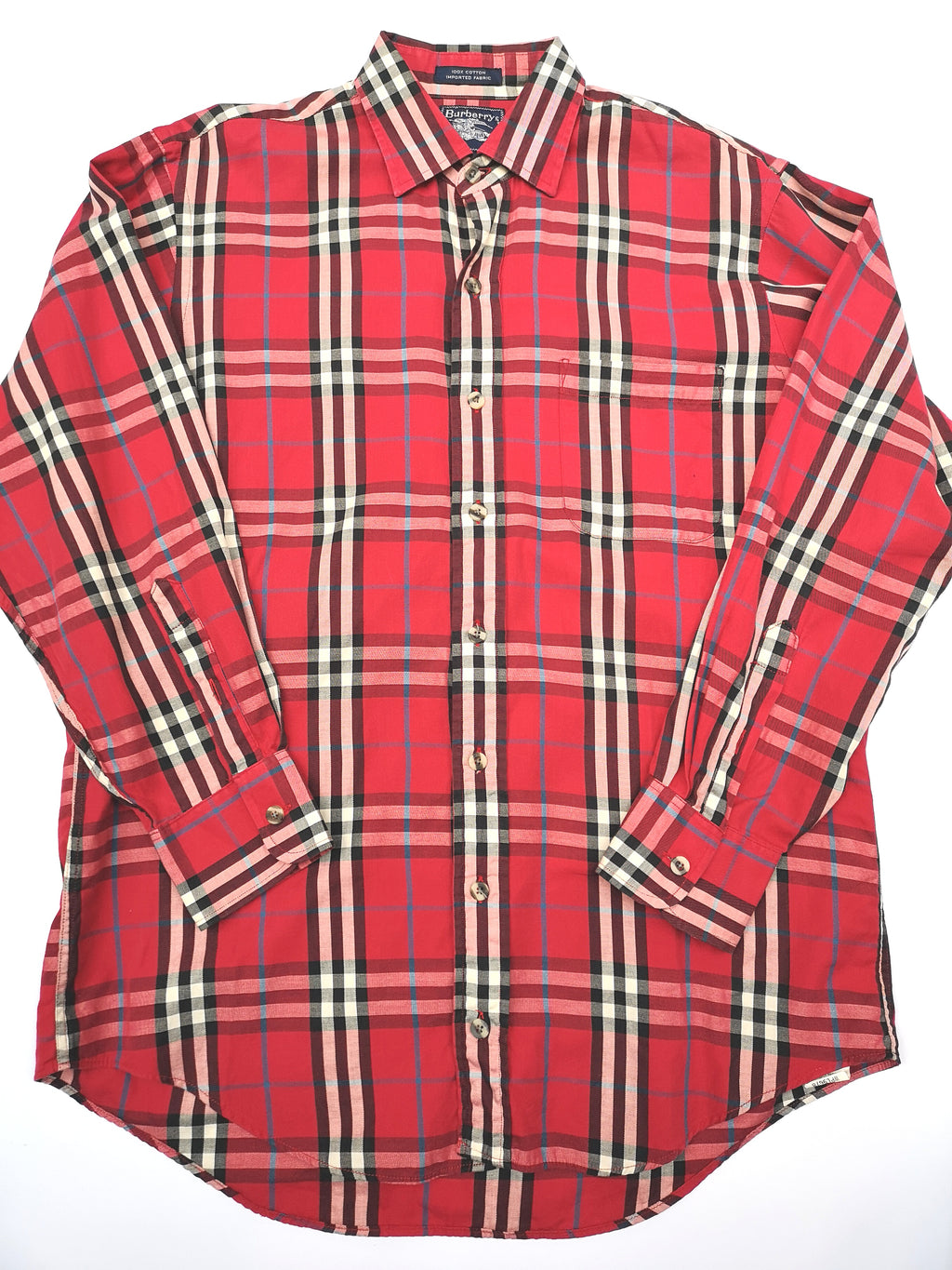 BURBERRYS RED PLAID SHIRT