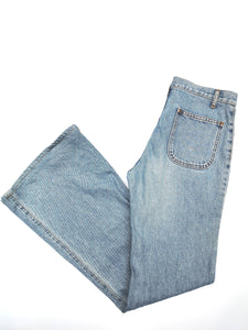 90s BLUE DENIM FLARE PANTS