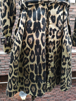90s BETSEY JOHNSON LEOPARD TRENCH COAT