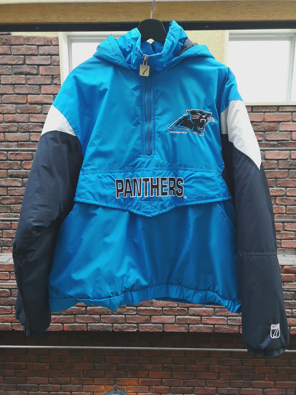 LOGO7 NFL CAROLINA PANTHERS ANORAC JACKET