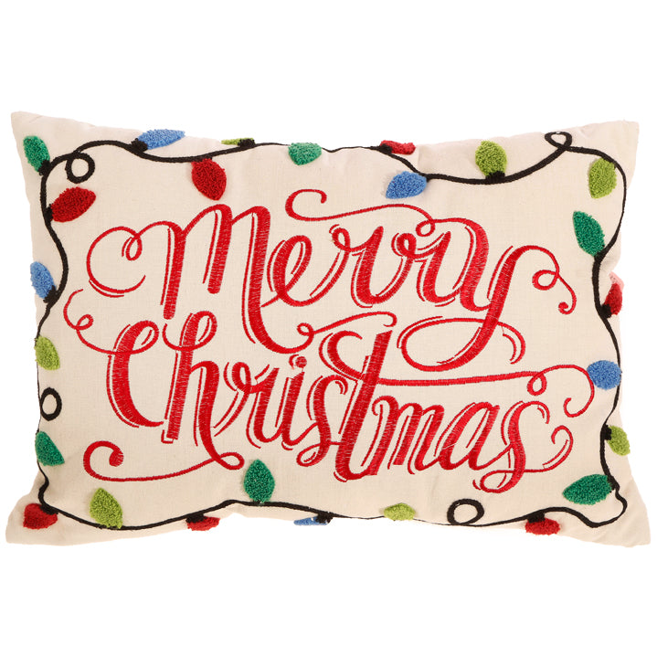 "19.5"" Merry Christmas Pillow"