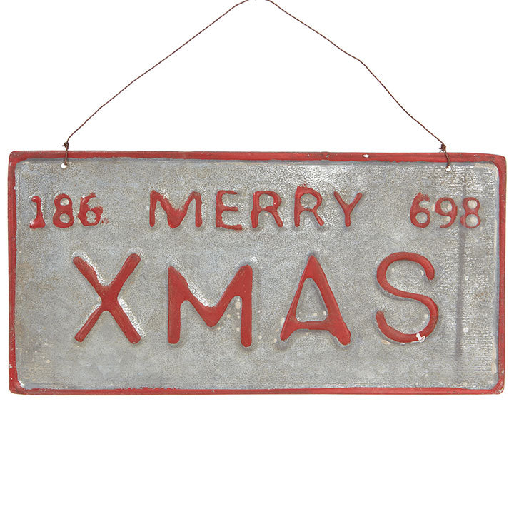 "11.25"" Merry Christmas License Plate"