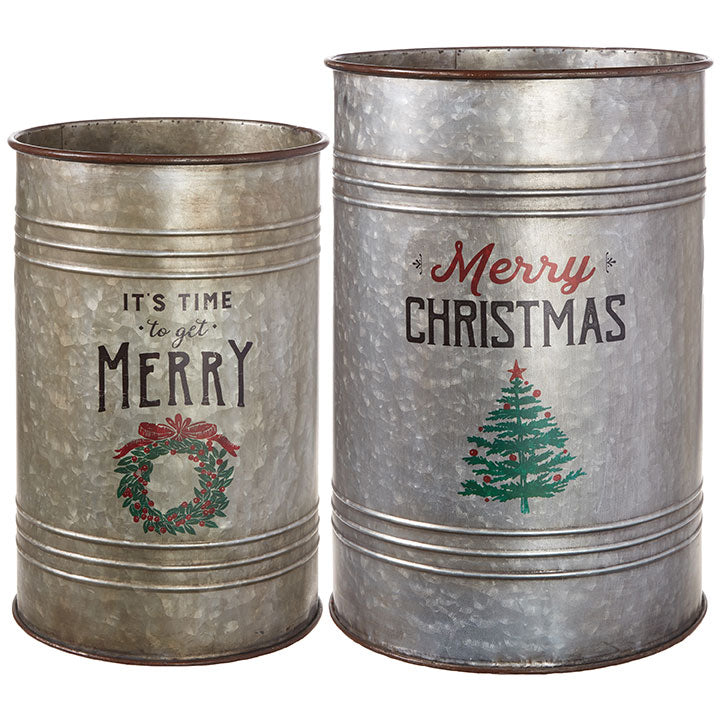 "20"" Merry Christmas Container"