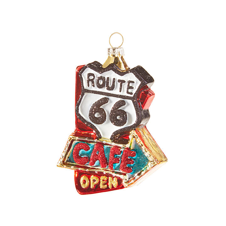"4.25"" Route 66 Sign Ornament"