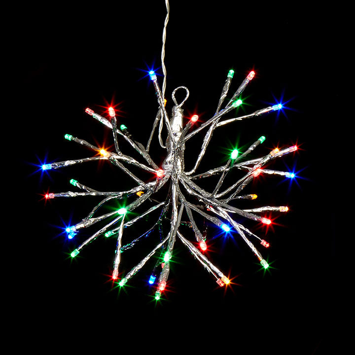 "10"" Silver Starburst with 48 Multi Color Lights (No Remote)"