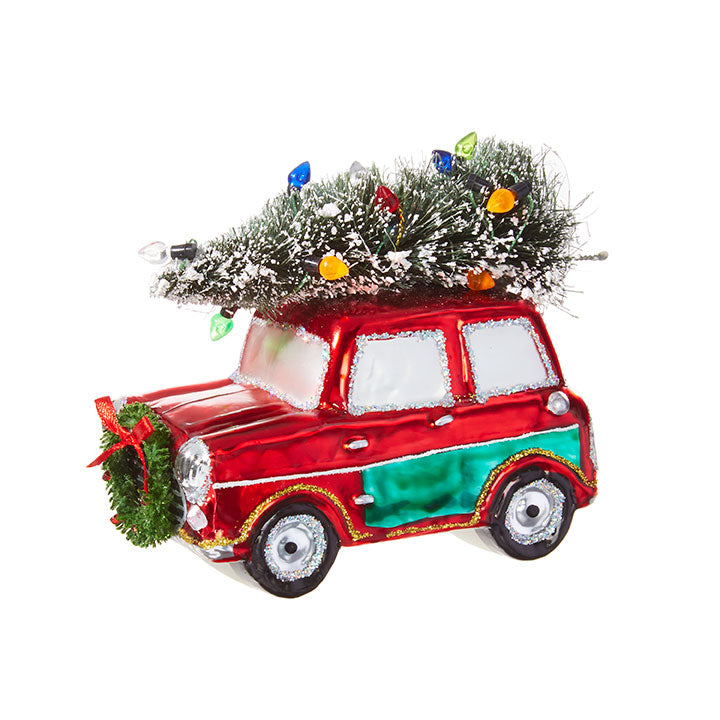 "3.5"" Car with Tree Ornament"