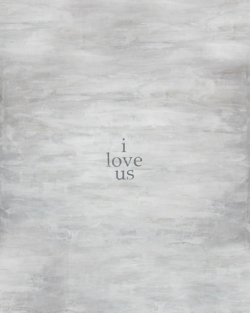 I Love Us Oil Canvas Gallery Wrap