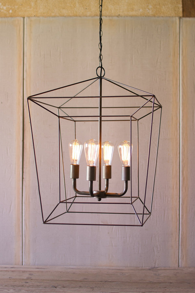 Urban Farmhouse Designs Square Iron Bar Pendant Light