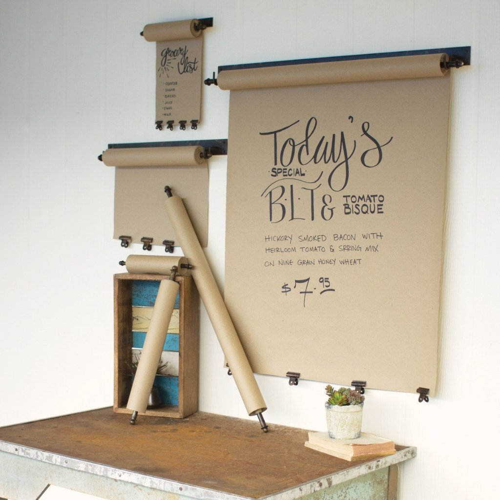 Urban Farmhouse Designs Hanging Note Roll w/ Clips - 3 Sizes