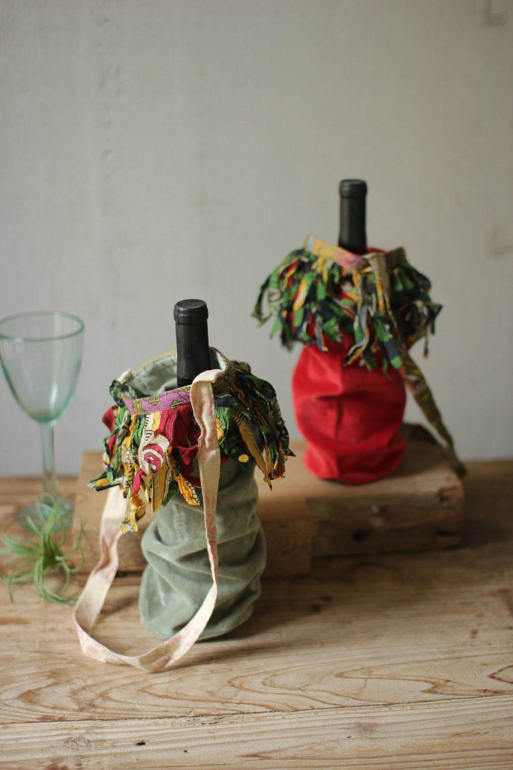 Velvet Wine Bags with Handles