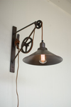Urban Farmhouse Designs Double Pulley Wall Sconce