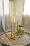 Urban Farmhouse Designs Glass Dome Gold Table Lamps