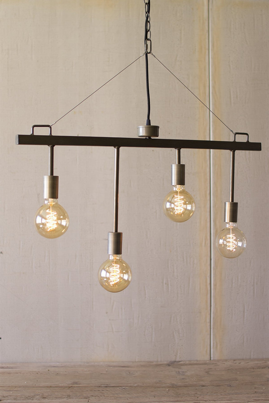 Urban Farmhouse Designs Raw Metal and Brass Pendant