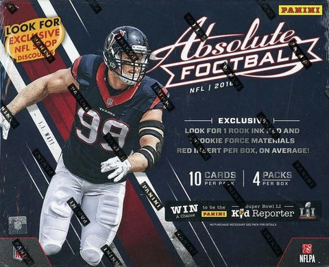 2016 Panini Absolute Football Premium Box Factory Sealed