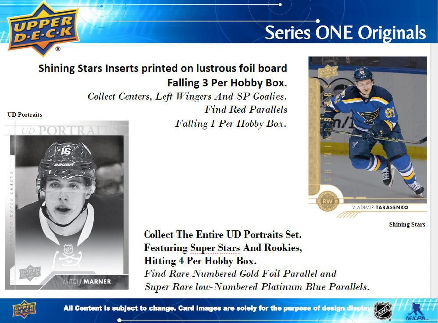 2017/18 Upper Deck Series 1 Hockey Hobby Box - RANDOM TEAM 2 BOX BREAK #119