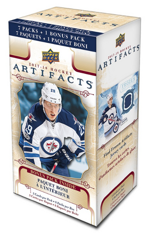 2017/18 Upper Deck Hockey Artifacts Blaster Box Factory Sealed