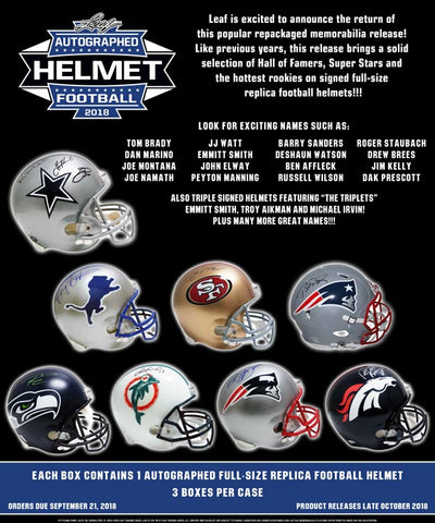 2018 Leaf Autographed Full Size Football Helmet - Random Division BREAK #11
