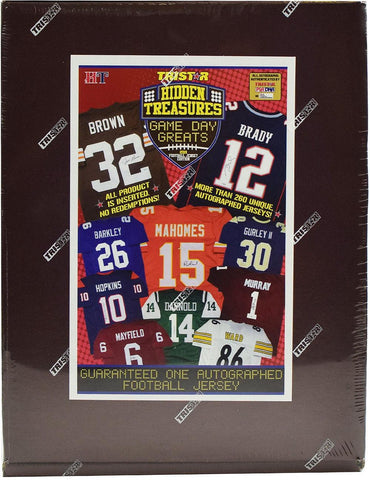 2019 Tristar Hidden Treasures Game Day Greats Autographed Football Jerseys - Random Division BOX BREAK #9