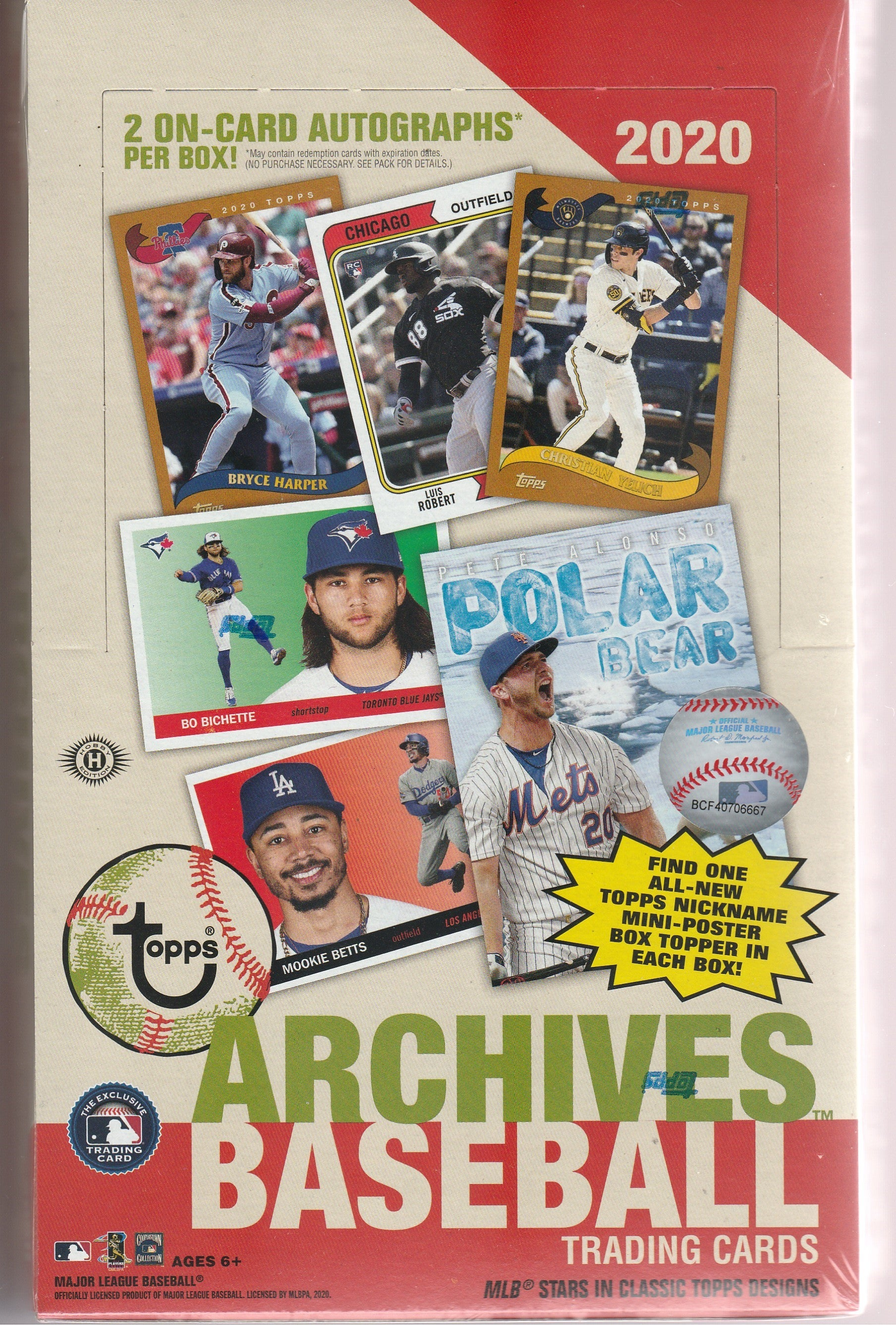 2020 Topps Archives Baseball - Random Team Box BREAK #172
