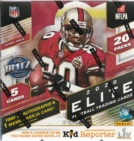 2020 Panini Donruss Elite Football Hobby Box - RANDOM TEAM BOX BREAK #173