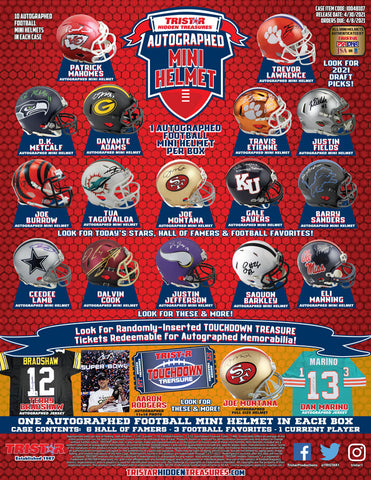 2021 Tristar Mini Autographed Helmet Football - Random Division BREAK #261