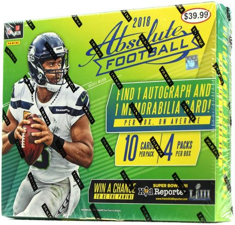 2018 Panini Absolute Football 4-Pack Mega Box - RANDOM TEAM 2 BOX BREAK #253