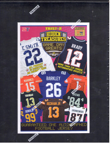 2019 Tristar Hidden Treasures Game Day Greats Autographed Football Jerseys - Random Division BOX BREAK #64