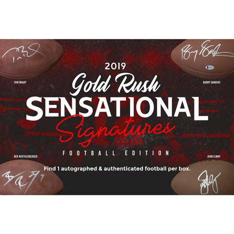 2019 Gold Rush Sensational Signatures Auto Football - Factory Sealed