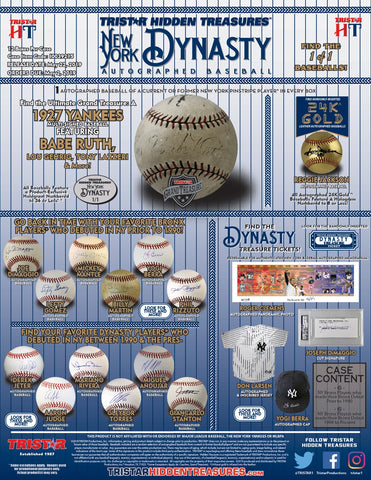 2019 Tristar HT Autographed Baseballs: New York Dynasty Edition - BREAK #15