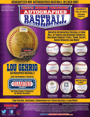 2018 Tristar Hidden Treasures Autographed Baseball Series 10 - Random LETTER 2 BOX BREAK #112