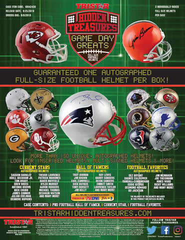 2019 Tristar Auto Full Size Football Helmet - Random Division BREAK #48