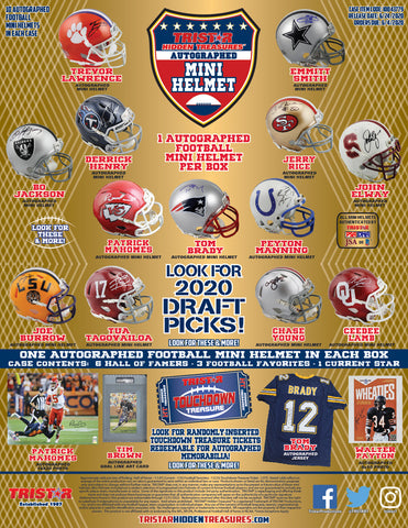 2020 Tristar Mini Autographed Helmet Football - Random Division BREAK #139
