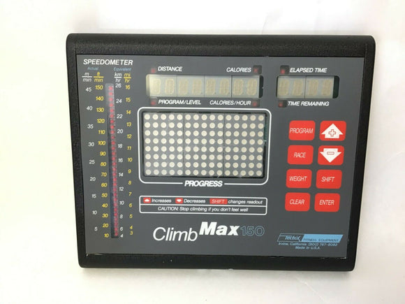 Cybex Tectrix - Climbmax 150 Stepper Step Display Console Panel 131550 - fitnesspartsrepair