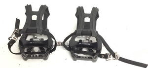 Expresso Fitness S3U NOVO Upright Bike Clip in Spin Bike Pedals W/ cage, Shimano - fitnesspartsrepair